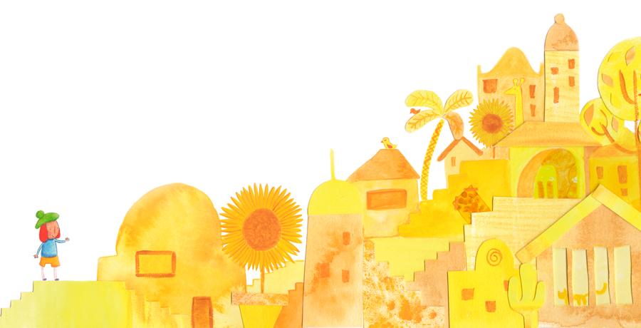 Las ciudades de colores - Ciudad amarilla - Raquel Blázquez