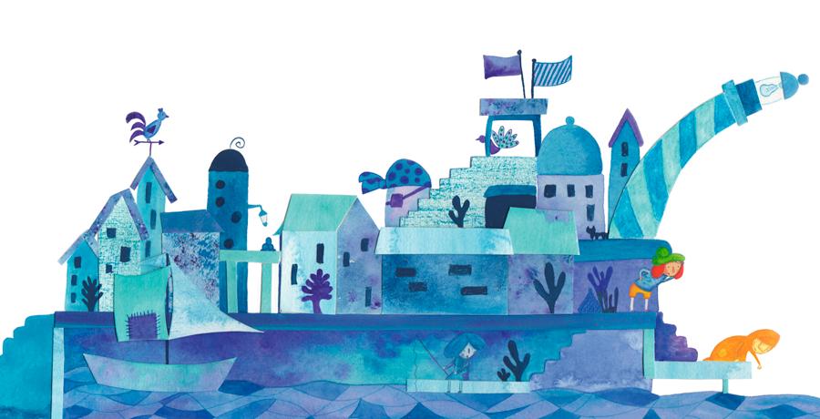 Las ciudades de colores - Ciudad azul - Raquel Blázquez