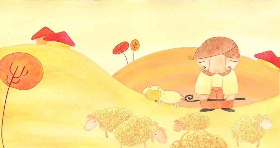 El corderín azul - Ilustración 01 - Raquel Blázquez