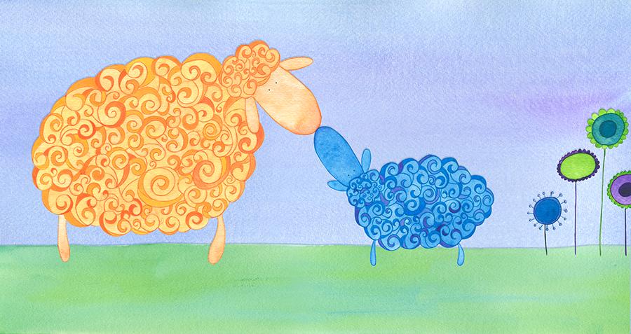 El corderín azul - Ilustración 03 - Raquel Blázquez