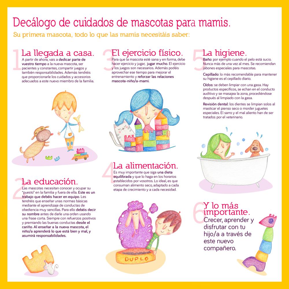 Decálogo de cuidado para mascotas para Lego por Raquel Bonita