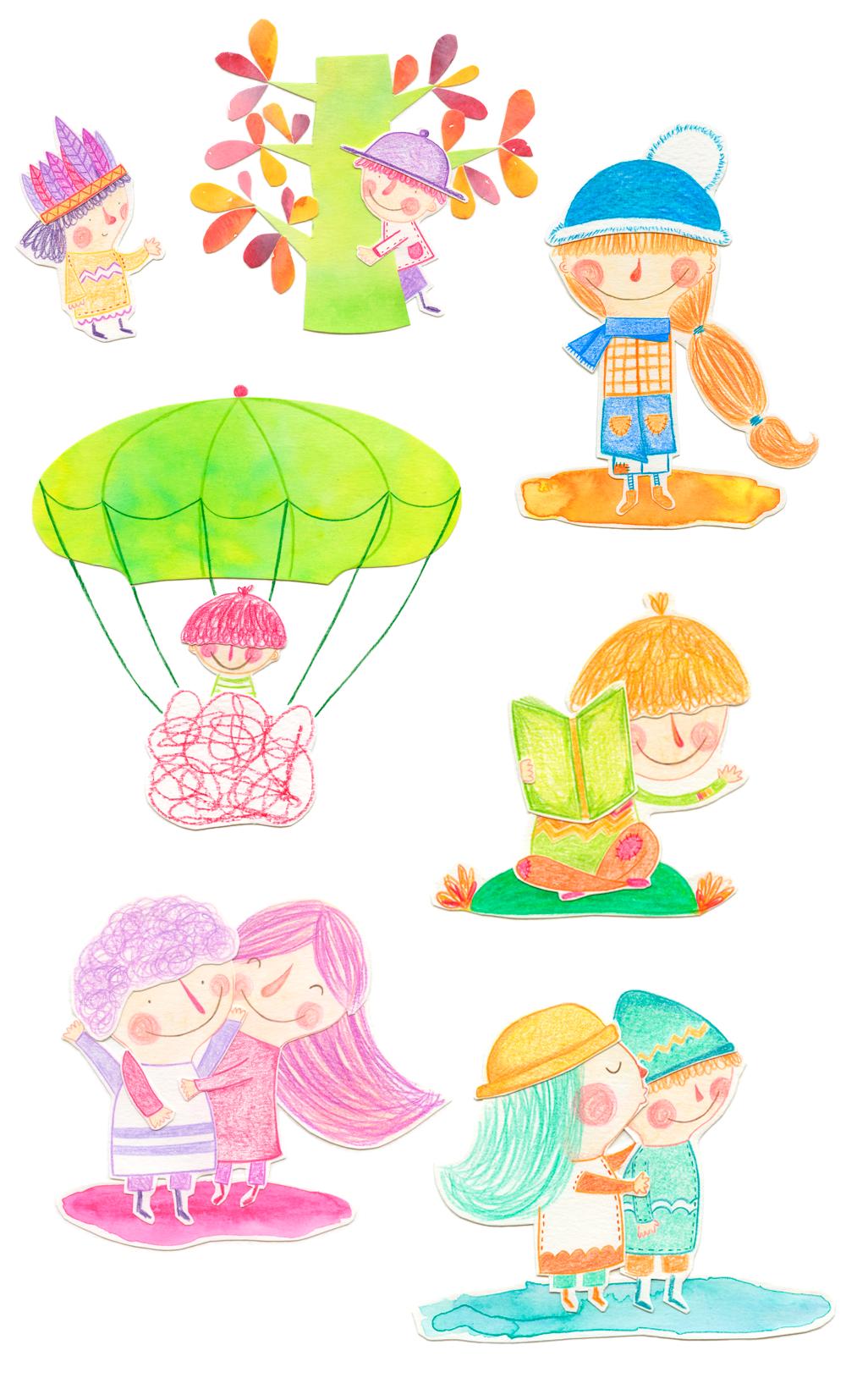 Ilustracion personal - Happiness characters - Raquel Bonita