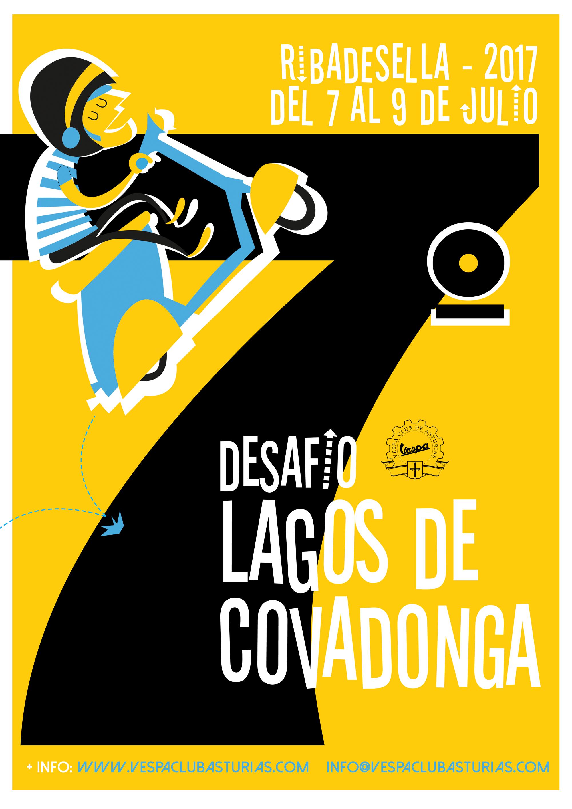 Club Vespa de Asturias - Cartel 7º Desafio Lagos de Covadonga - Raquel Bonita