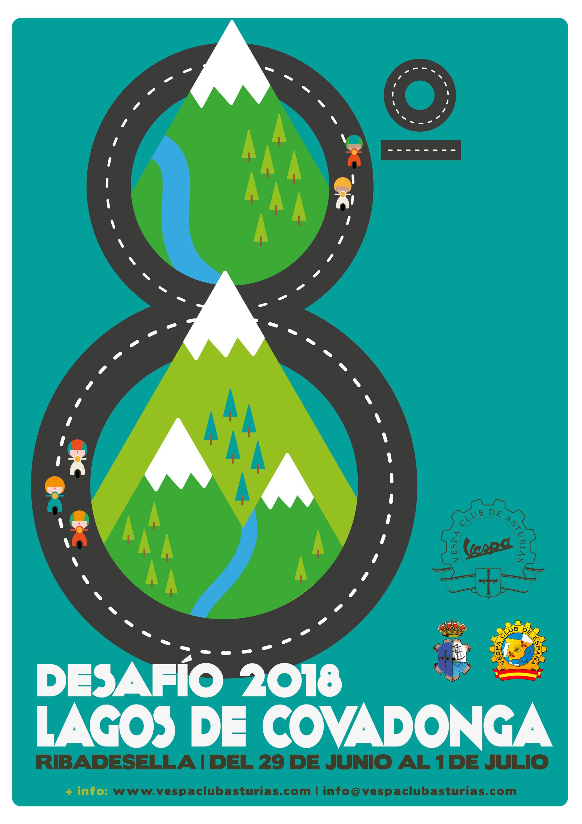 Club Vespa de Asturias - Cartel 8º Desafio Lagos de Covadonga - Raquel Bonita