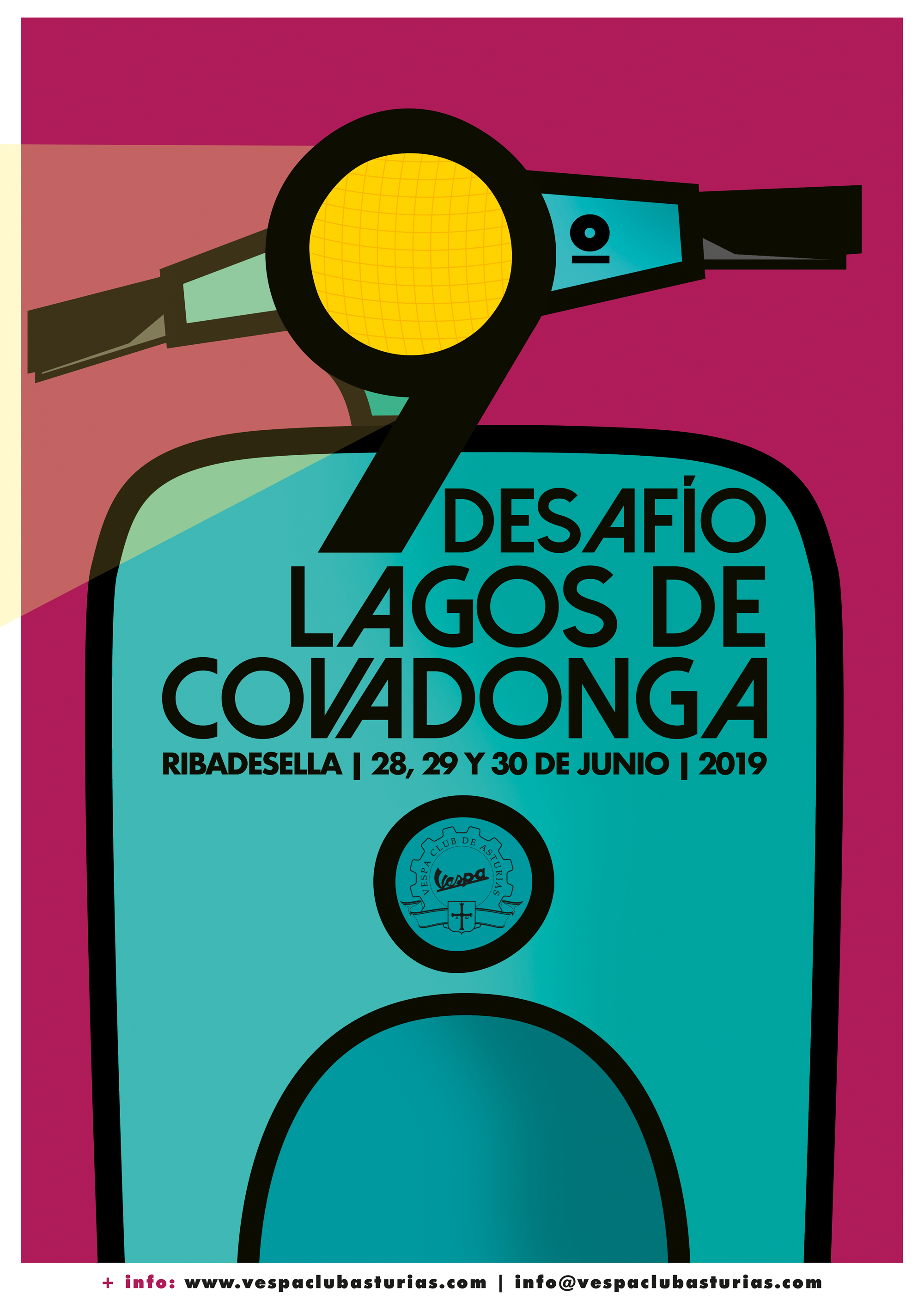 Club Vespa de Asturias - Cartel 9º Desafio Lagos de Covadonga - Raquel Bonita
