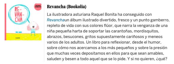 Revancha - Raquel Bonita - Crítica en El País
